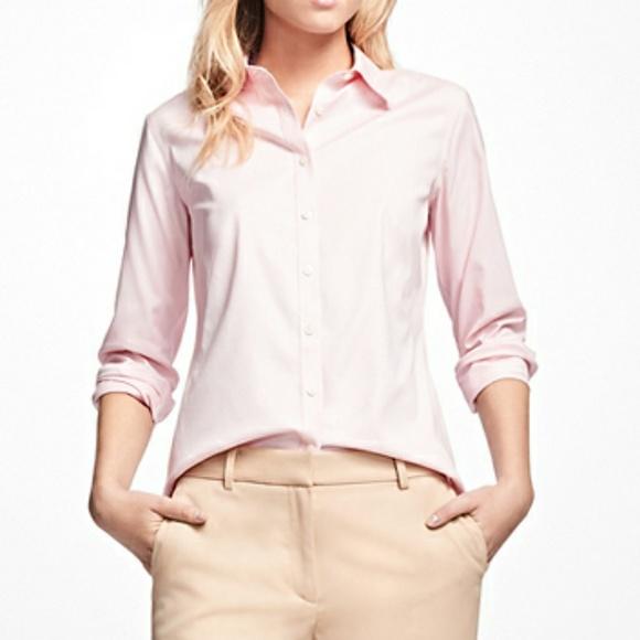 29351f239e2 No iron fitted shirt Brooks Brothers women